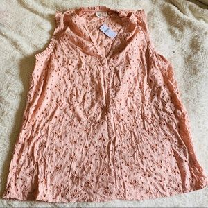 pink Gap size medium TALL eyelet sleeveless top